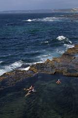 Morning swim in the Bogey Hole, Newcastle (Tim J Keegan) Tags: australia nsw huntervalley newcastle coast sea ocean baths oceanbaths swim swimmers bogeyhole dip earlymorningdip laps oceanpool pool cliffs