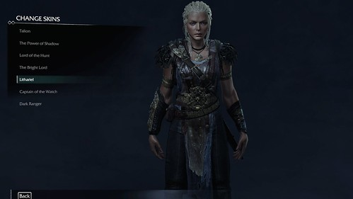 Middle-earth: Shadow of Mordor skin selection