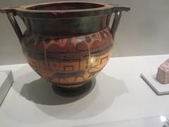 Ceramic Vase,   CaixaForum, Madrid, June 2018 (d.kevan) Tags: exhibitions caixaforum ancientinstruments displaycabinets june2018 madrid spain exhibits greek ceramic vases