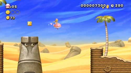 New Super Mario Bros. U Deluxe Princess Peach gameplay