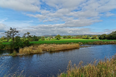 Ribble Valley View (scottprice16) Tags: england lancashire clitheroe river september 2018 outdoors autumn view landscape riverribble ribblevalley ribbleway ldnp grass reeds fells hills waddingtonfell westbradfordfell colours sony sonya6000 zeiss1670mmf4 walk leisure calm