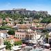 Monastiraki Square and Acropolis in Athens
