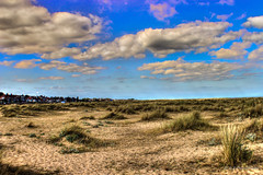 A Brisk Of Blue (G.R Photography) Tags: blue yellow green grey clouds cloudy sand sandy sanddunes dunes grass grassy grassybanks clearsky sun sunny beach sunnyday niceday dayatthebeach landscape landscapephotography grphotography cromer norfolk uk england ukcoast coast