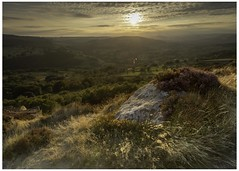 Hope valley (Darren Knight Photo) Tags: surprise view hope valley sunset sunrise silver birch trees rocks hiking clouds landscapephotography vlogger youtube hills peak district van life heather grass