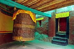 The prayer wheel !! (Lopamudra !) Tags: lopamudra lopamudrabarman lopa ladakh jk india zanskar zanskarvalley bardan monastery buddhism buddhist buddism buddha religion religious sacred holy prayer ptayerwheel wheel colour color colours colourful peace