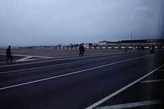STREET CROSSES RUNWAY GILBRALTER UK-6188 (Gerry Slabaugh) Tags: gibralter gibraltar gerry slabaugh uk northafrica europe strait runwayhighway