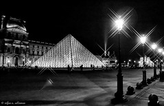Pyramide du Louvre (airfund) Tags: paris france museum louvre pyramid heritage musée building architecture blackandwhite bnw europe europa landmark night lumix gx85 mirrorless microfourthirds m43 1232mm monochrome