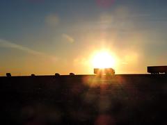 On the road are cars (arthurverigin) Tags: russia road siberia sunset sun arable