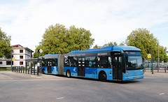 OV Regio IJsselmond 4635 - Emmeloord (rvdbreevaart) Tags: ovregioijsselmond emmeloord vanhool newag300 gelede bus busstation openbaarvervoer öpnv publictransport blue