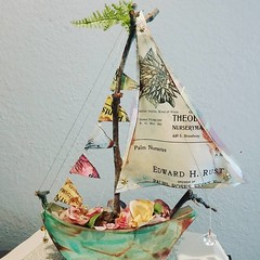 Sculpted Paper Sailing Ship (all things paper) Tags: cafepaperie paperart papercraft upcycled foundpaper papersculpture sailboat sailingship paperboat papersailboat