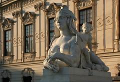 Riding the Sphinx (2) (Wolfgang Bazer) Tags: upper oberes belvedere sphinx wien vienna österreich austria sculpture skulptur