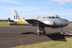 IMG_9646 (routemaster2217) Tags: northweald aviation aeroplane aircraft jetaircraft fighterjet trainingaircraft jettrainer huntingpercivalaircraft huntingpercivaljetprovostt1 bac britishaircraftcorporation jetprovostmk1 rollsroyceviper royalairforce raf