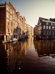 P2182772 (rpajrpaj) Tags: amsterdam streets canals netherlands city cityscape sunrise