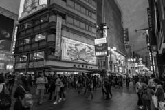 street (Hideki-I) Tags: nikon d850 2470 blackandwhite bw 白黒 street urban osaka japan dotonbori 大阪 道頓堀 日本