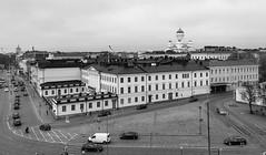 Helsinki (Antti Tassberg) Tags: katu bw kaupunki helsinki arkkitehtuuri rakennus architecture blackandwhite building city cityscape monochrome street urban uusimaa finland fi