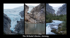 The Briksdal glacier (smir_001) Tags: briksdalglacier briksdalsbreen jostedalsbreenglacier jostedalsbreennationalpark briksdalenvalley mountain lake waterfall glacierriver river stream reflection climate attraction nature outdoor landscape environment longexposure panorama vista norway loen olden valley norway2018 triptych collage