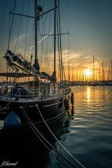 Atardecer en el puerto (Francisco Chornet) Tags: atardecer ocaso barcos puerto puestadesol mar puertodevalencia valencia sony sonystas a58 tamronsp1750 luz landscape sunset