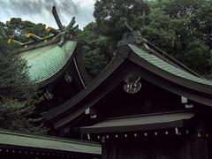 Roof Complex of Hikawa Shrine II (Eshke04) Tags: shrine architecture shintoist old traditional sacred religious hikawa saitama japan roof complex