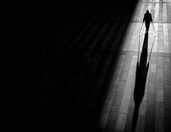 walk on (Dan-Schneider) Tags: streetphotography street silhouette blackandwhite bw shadow human light lonliness monochrome moment mood minimalism dan schneider fuji fujix