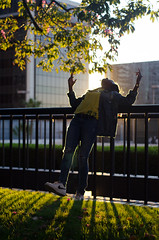 BEVERLY & DT w Ashlee (Kevin T. Birdt) Tags: kevin birdt ashley d7000 portrait urban city edit street photography kevinbirdt los angeles la trees foliage backlit natural light naturallighting goldenhour