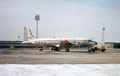 10000. Royal Canadian Air Force Canadair C-5 North Star (Ayronautica) Tags: 1965 march canadaircl5northstar 10000 royalcanadianairforce rcaf propliner military ayronautica aviation scanned prestwick pik egpk