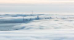 Stage 1 - fog rolling in (wandering indian) Tags: fog sanfrancisco cali california kedardatta landscape cityscape longexposure nikon citylights