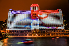 Art on theMART Opening Night (Joshua Mellin) Tags: merchandise mart art themart merchandisemart chicago lights light lightprojection permanent river chicagoriver photos pics pictures joshuamellin tourism travel choosechicago visitchicago joshua mellin writer journalist blogger reporter photographer amazonhq amazon hq amazonhqchicago headquarters night evening photography lighting bright projection projector history inaugural first installation artinstallation inauguralnight openingnight opening city franklin bridge cityofchicago projected artwork best joshmellin josh artist mayor splatter splatterart splat red blue white windy windycity thewindycity secondcity thesecondcity 2ndcity the2ndcity chitown splatters