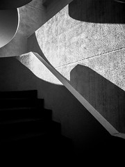 R0059212 (seba0815) Tags: ricohgrdiv grdiv monochrome bw blackwhite blackandwhite blanc noir concrete architecture city hotel building stairs shadow light abstract walk urban artinbw urbanarte seba0815