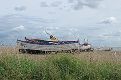Boats and Birds (Deida 1) Tags: seagulls seascape boats grass beach aldeburgh suffolk uk sea
