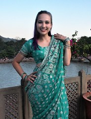 Virginia at Ganga Concert (Scott RS) Tags: ganga ganges concert sari aqua dress hair face skin smooth tender sweet eyes beauty gorgeous pretty lovely smile engaging fun funny energetic playful bracelets hip lips buoyant milky stunning