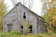 Forgotten (KaDeWeGirl) Tags: newyorkstate clinton county ellenburg abandoned forgotten neglected house wood windows trees