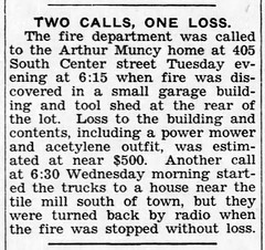 1956 - fire at Muncy house - 405 S Center - Enquirer - 26 Apr 1956