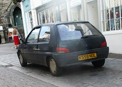 1992 Peugeot 106 1.1 XR (occama) Tags: k559ngl 1992 peugeot 106 11 xr old car cornwall uk blue french