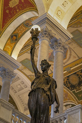 Minerva of Peace (johngoucher) Tags: approved libraryofcongress sonyimages sonyalpha washingtondc architecture architecturalphotography iconicbuilding travel sculpture greathall statue minervaofpeace herbertadams