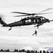 HH-60G Pave Hawk in Black & White Letting Down PJ