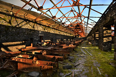 Australia (PentlandPirate of the North) Tags: australia dinorwic slate quarry cutters snowdonia dinorwig gwynedd machines rust