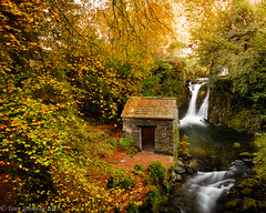 Rydal Falls & The Grot (tony johnston Images) Tags: autumn cumbria fall fujitx2 lakedistrict lakeland landscape other places rydalmount rydalwater thegrot tonyjohnston uk water waterfalls waterlandscape waterscape