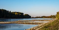 20181015-K32E7610 (AldAsAck1957) Tags: rhine karlsruhe germany low water sunset fall colour