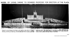 1936 Marcus Reynolds proposed  Founder Mounument -designed by David Lithgow (albany group archive) Tags: 1930s old albany ny vintage photos picture photo photograph history historic historical