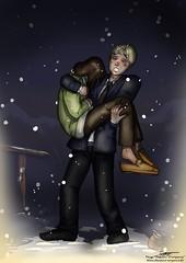 Seuls dans le froid (dessins_urgence) Tags: amour escarpés montagne neige nuit