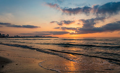 El Postiguet beach, Alicante (Vest der ute) Tags: g7xm2 g7xll water sea seascape spain sunrise sky cloudscape beach fav200