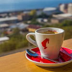 Cup of coffee with the view thumbnail