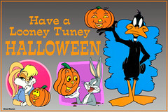 HW 2006-18  Looney Tunes - Daffy & Bugs clings (StarRunn) Tags: halloween holiday looneytunes daffyduck buggybunny lolabunny wb cartoon