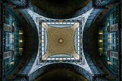 A reason to look up. (A.Dissing) Tags: white black art light dark contrast a7 a7ii a7m2 sony anders dissing masterpiece super detail fantastic good positive photo pixel mm creative beautiful color composition moment europe artistic other danish denmark danmark different exposure enjoy young unique weather scene awesome dope angle perfect perspective interesting flickr explore unusual adventure antwerpen belgium central station centralstation mirror roof blue cyen yellow day amazing autumn vacation 2018 winter world window golden hope long high town