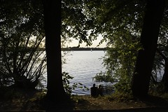 Alster Lakes 2 (t.leighpics) Tags: germany deutschland hamburg alster lake couple sunset ausenalster