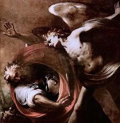 IMG_4007G Pietro Ricchi 1606-1675 Venise La Lutte de Jacob et l'Ange. Jacob's Fight and the Angel.  Vers 1655.  Avignon Musée Calvet. (jean louis mazieres) Tags: nicolas mignard davignon 16061668 avignon peintres peintures painting musée museum museo france muséecalvet
