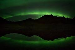 Midnight Magic (Dani℮l) Tags: lofoten auroraborealis northernlight danielbosma norway landscape lake reflection green night dark calm