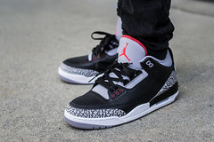 2018 Air Jordan 3 Black Cement On Feet (Tony Diamonds) Tags: 2018 air jordan 3 black cement on feet