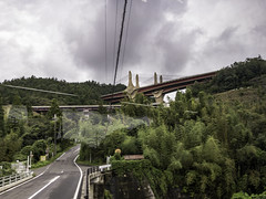 AGQ-20180927-0034 (AGQue) Tags: 2018 asia autumn fall gmt0900tokyostandardtimezone japan koka september shigaprefecture travelphotography bridge suspensionbridge vacationing otsushi jp