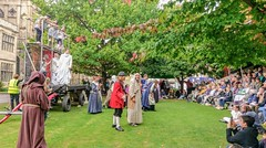 YMPST waggon play performance, King's Manor, 16 September 2018 - 07 (nican45) Tags: yorkmysteryplays2018 16september2018 16092018 2018 htc htc10 kingsmanor mysteryplays nickansell september supporterstrust theharrowingofhell ymp ympst york yorkshire cast costumes mobile mobilephone performance phone photographer photography waggon waggonplay wagon